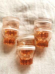 Lot de 6 Verres à liqueur liseré blanc