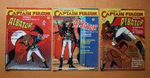 """Lot de 3 revues BD  année 80 """"Le journal de Captain Fulgur"""""""