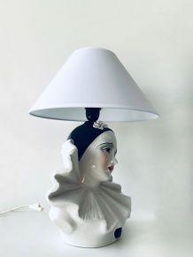 Lampe céramique Pierrot triste