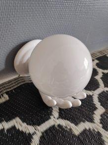 applique main céramique blanche et opaline blanche