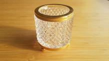 Pot à crayons en cristal tripode