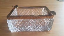 cendrier en cristal tallé vintage
