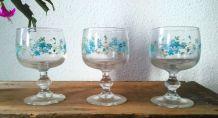 8 verres à pied  collection Veronica Myosotis (Arcopal)