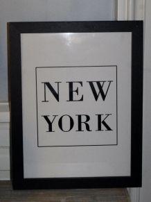 Illustration NEW YORK encadrée noir