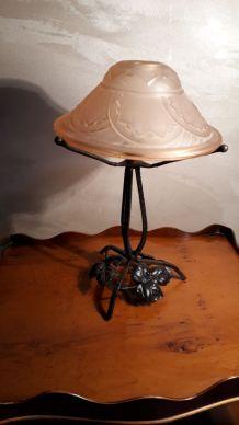 petite lampe fer forge 1920