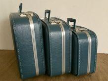 Valises gigognes hôtesse de l'air des années 60/70
