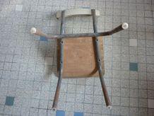 Chaise enfant vintage formica et metal