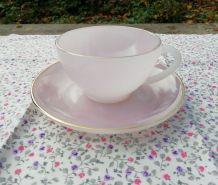 2 tasses à thé Opaline