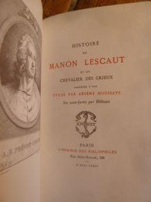 """""""Histoire de Manon LESCAUT"""" 2 vol. 6 eau fortes par Hedouin"""