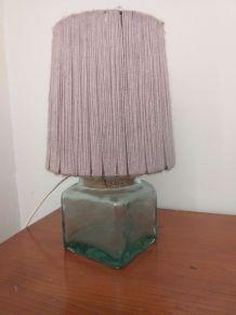 Lampe verre liège et laine vintage
