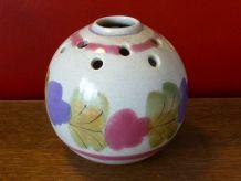 Vase pique fleurs, céramique émaillée, Ninon Mbfa pornic fr