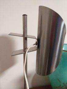 Lampe design vintage acier et pince réglable