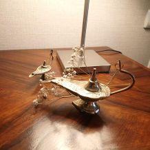 Paire de lampes Aladdin en laiton