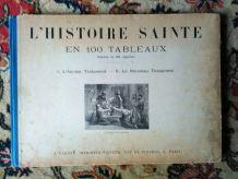 L'histoire sainte en 100 tableaux (livre ancien)