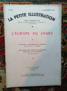 """La petite illustration - """"L'Europe en armes"""" 1936"""