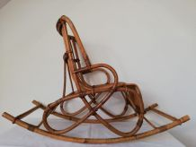 Rocking chair (fauteuil) enfant rotin