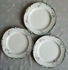 "Trois assiettes ""Petites roses"""