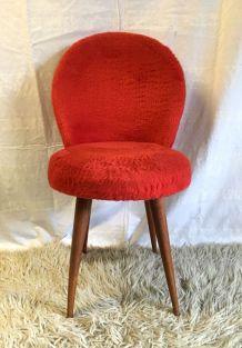 Chaise cocktail rouge  – années 60