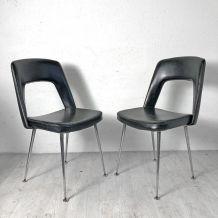 Ensemble de 4 chaises vintage 70's