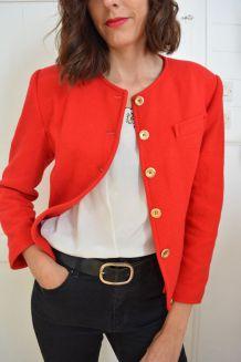 Veste blazer rouge