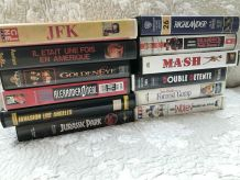 12 cassettes DVD/vhs