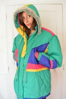 Veste de ski avec capuche des années 80