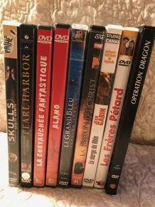 9 cassettes DVD d'actions