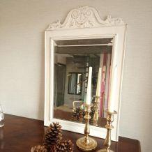 Miroir ancien biseauté relooké