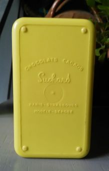 Lot de 2 boites Suchard en plastique jaune