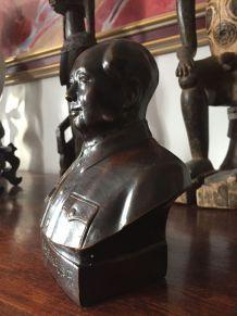 Statuette bronze Buste Mao très bon état