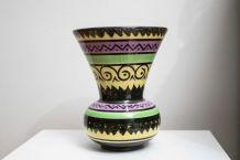 Petit vase ancien en faïence HB Quimper
