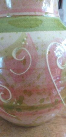 Vase en terre cuite vernissée signé LUF