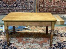 Table de ferme anglaise en sapin - XIXème