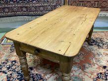 Table de ferme anglaise du XIXème en sapin
