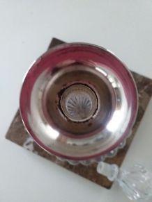Carafe en verre et métal argenté