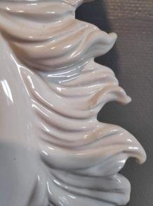 lampe tête de cheval en céramique blanche