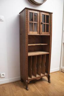 Petite étagère bibliothèque à casiers ancienne
