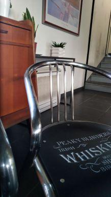 Chaise bistrot chromée
