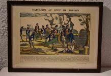Gravure *Napoléon au Siège de Toulon*