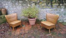 Paire de fauteuils cocktail vintage