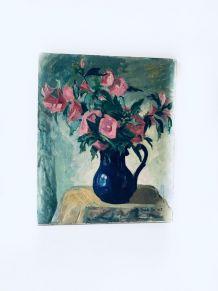 Huile sur toile ancienne, tableau signé Boris Buchet