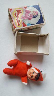 RARE petite poupée dans boîte d'allumettes VINTAGE