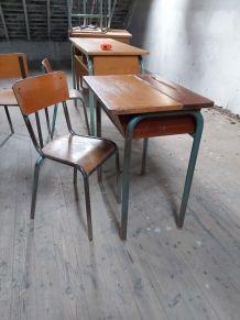 Pupitre d'écolier années 70