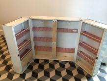 Armoire à pharmacie métallique deux portes vintage années 50