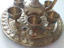 Service en cuivre Marocain vintage
