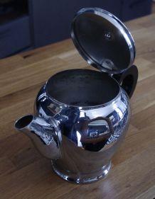 Service café ou thé vintage nickel chromé et Bakélite