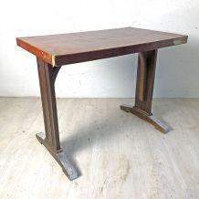 Table bistrot en bois et bakelite vintage 60's