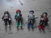 4 figurines fluorescentes playmobil