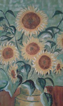 Peinture sur toile les tournesols
