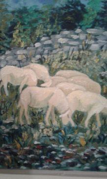 Peinture sur toile.